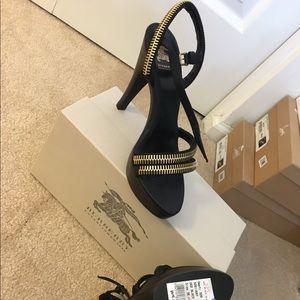 Burberry platform heels